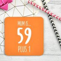 Personalised 60th Birthday Coaster, Orange/Red/Wine