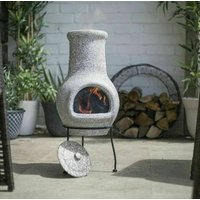 Quality Stone Effect Grey Chiminea