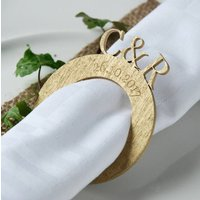 Personalised Monogrammed Wedding Napkin Rings