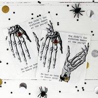 Halloween Skeleton Hand Party Napkins