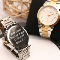 Ladies Engraved Wrist Watch Silver And Gold, Silver