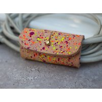 Splatter Painted Leather Cable Tidy