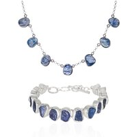 Tanzanite Gemstone Handmade Necklace And Bracelet Set