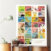 Personalised Animal Alphabet Print
