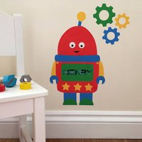 Personalised Robot Wall Sticker With Cogs