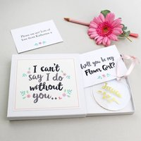 'Will You Be My Flower Girl?' Keepsake Gift, Gold/Silver/White