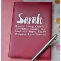 Contemporary Personalised Leather Name Journal