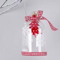 Scandi Glass Jar Christmas Decoration