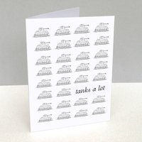 'Tanks a lot' Thank You Card