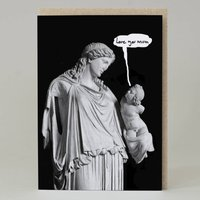 Mother And Child Statue Card