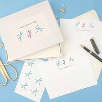 Personalised Dragonflies Writing Set