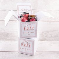 Personalised Message Valentine Gift Box Free Delivery, White/Black