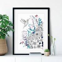 Hummingbird Blossom Fine Art Giclee Print