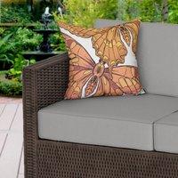 Yellow Butterflies Water Resistant Outdoor Cushion
