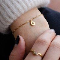 Circle Confetti Personalised Birthstone Charm Bracelet