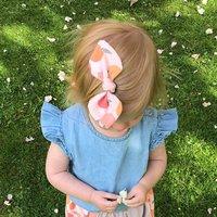 Small Bow Set, Peach
