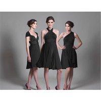 Black Multiway Knee Length Dress