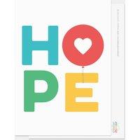 Hope Balloons Postcard Multicoloured