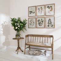 Brookby Set Of Two Leaf Prints In Wooden Frame