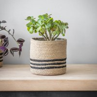 Striped Jute Pot