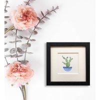 Original Watercolour Little Cactus Framed Painting