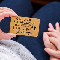 Mother's Day 'Mum I Am So Glad You're Mine' Purse Card