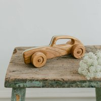 Wooden Retro Racing Car Toy Duck Egg
