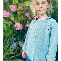The Kids Hand Knitted Mint Eyelet Cardigan