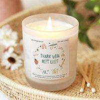 Nursery Teacher Gift Personalised Candle