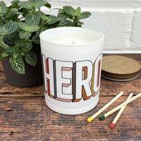 Personalised Hero Candle Gift