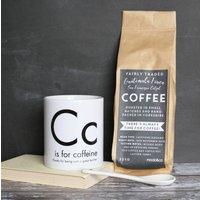 Personalised Caffeine Teacher Mug And Coffee Gift Set