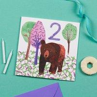 Bear 2nd Birthday Card