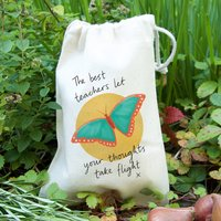 Butterfly Teacher Gift Bag With Seeds