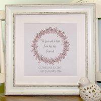 Personalised Silver Wedding Anniversary Canvas Print