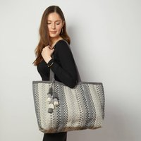 Woven Bohemian Tote Bag With Tassel