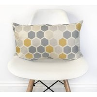 Geometric Hexagon Bolster Cushion Cover