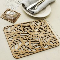 Grass In The Wind Place Mat And Coaster Set