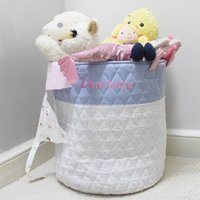 Personalised Pink Spot Quilted Toy Storage Laundry Bag