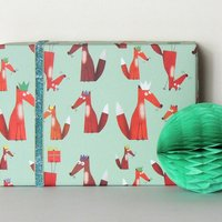 Foxes Gift Wrap Two Sheets