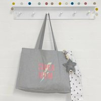 Super Mum Grey Tote Bag