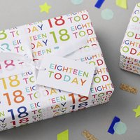 18th Birthday Wrapping Paper Set