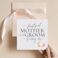 Mother Of The Groom Card | Delicate Rose