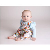 Organic Rainbow Baby And Toddler Dungarees