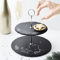 Personalised Christmas Treats Cake Stand