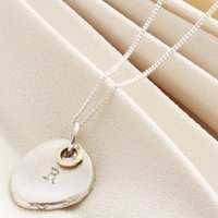 Personalised Silver And 9ct Gold Initial Necklace, Silver