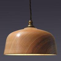 Loft Bell Wooden Ceiling Pendant Light, Red/Blue/Brown