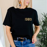 Personalised Year T Shirt Breast Pocket Design