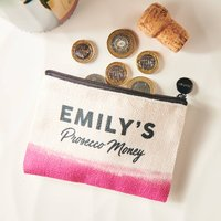 Personalised Prosecco Money Linen Purse