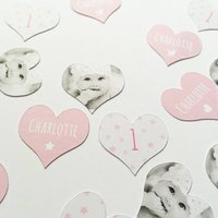 Personalised Photo '1st Birthday' Girl's Table Confetti