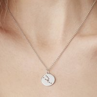 Taurus Star Sign Necklace In Silver Or Gold Vermeil, Silver